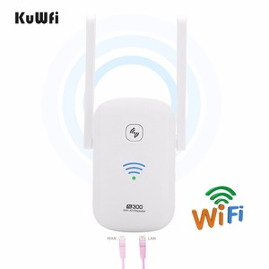 Image 4 - KuWFi 2.4Ghz 300Mbps WiFi Amplifier Repeater Access Point Client Roteador WiFi Range Extender Booster With Antenna 2*3dBi