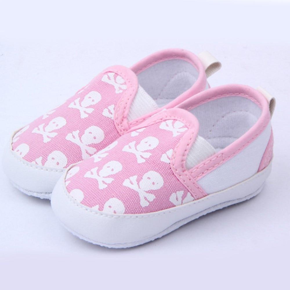 Lovely Baby Boys Girls Primi Walker Scarpe Skull Toddler Soft Sole Antiscivolo Kids Infant Shoe 0-12 Mesi