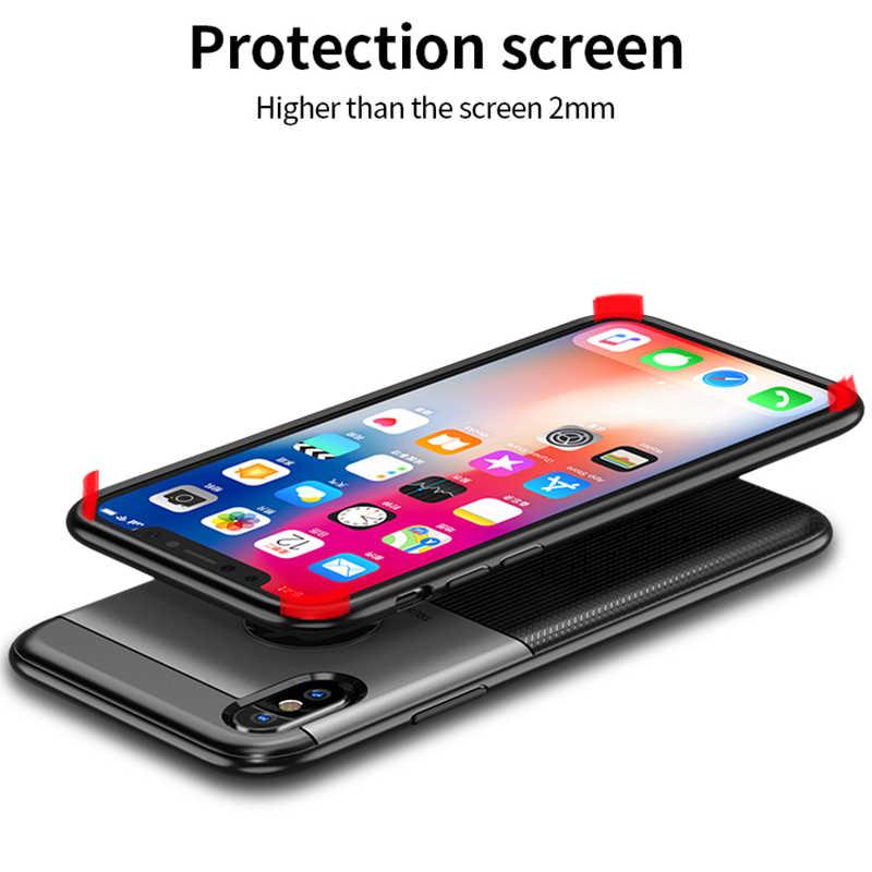 Para o iphone Caso IPAKY para iPhone Xs Xs Max Caso PC Híbrido Silicone Proteger A Armadura Soft Case À Prova de Choque para o iphone caso Xr