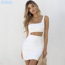 Summer Dress Women Fashion Sexy One Shoulder Hollow Out Bodycon Party Club Sheath Dresses Plus Size Elegant Casual Vestidos Lady цена