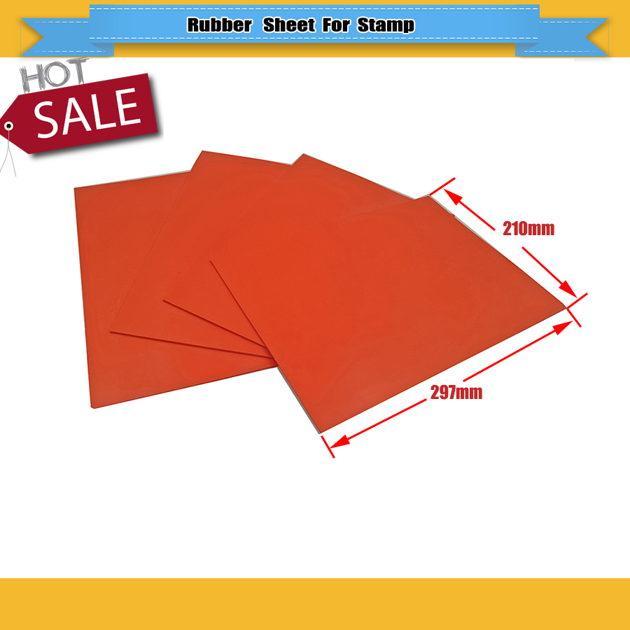 Laser Rubber Sheet 2 Pcs/lot Natural Rubber Sheet 297*210*2.3mm High Quality Rubber Laser Engraving Stamp Pad Free Shipping