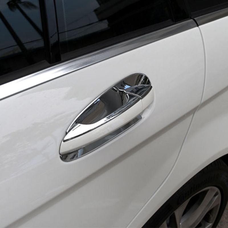 Chrome door handle cover trim door bowl decoration for for Mercedes benz chrome accessories
