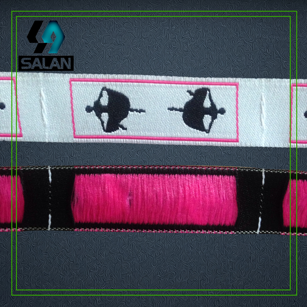 Free Shipping Custom Roll Woven label for clothes Garment Shirt Shoes Bags sewing tags Clothing Label