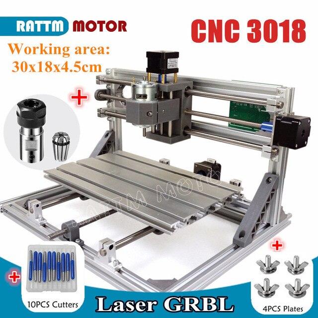 DE ship 3018 GRBL control DIY mini CNC machine working area 300x180x45mm 3 Axis Pcb Milling machine,Wood Router,cnc router v2.4 1
