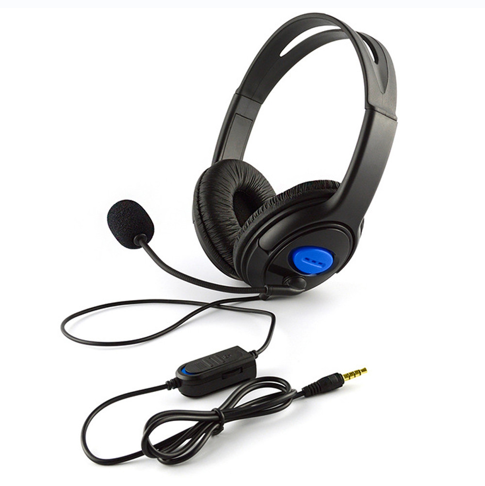 Wired Gaming Headset Headphones Built-in Microphone Headset Gamer for PS4 /PC /Laptop/ Phone/ Game Console Auriculares