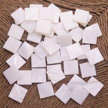 50 шт 10 мм плоская квадратная форма ракушка натуральный белый