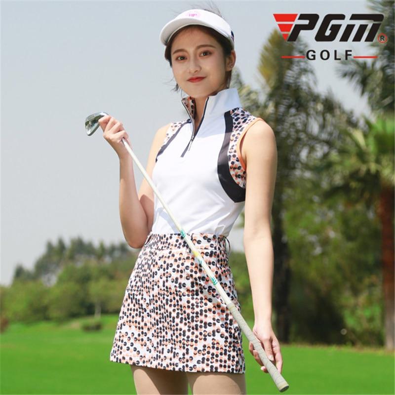 Women Summer Sleeveless Tops + Short Skirt Sports Clothing Set Ladies Printing Outdoor Golf/Tennis Apparel Clothes A7094