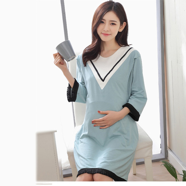 1a8649918d7 Autumn Tassel Dress Maternity Nursing Dresses Mothers Breastfeeding Clothes  Fashion Long Sleeve Cute Female Pregnancy Clothing