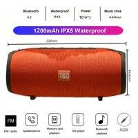20W Portable Wireless Bluetooth Speaker Bass Waterproof Sub woofer TG125 Stereo FM Radio TF AUX Portable Outdoor Subwoofer Speak