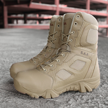 New Male High Top Spring Autumn Military Quality Boots Mens