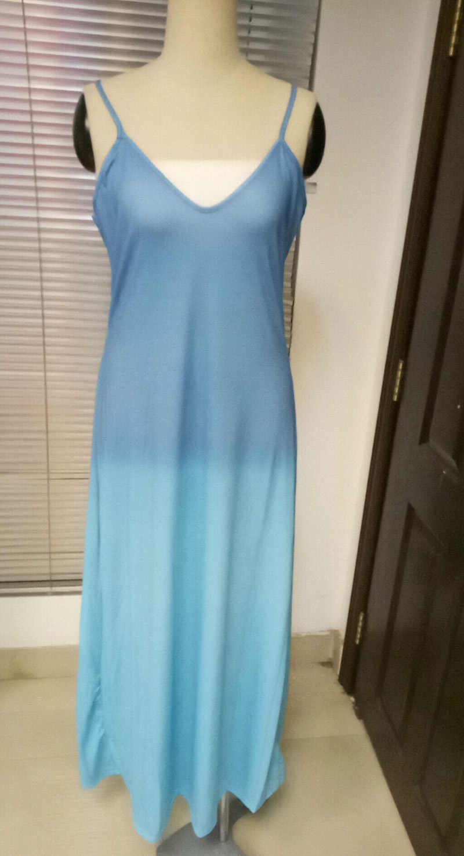 2019 sommer Frauen Bunte Gradienten Spaghetti Strap Party Kleid Boho v-ausschnitt Strand Lange Maxi Kleider Plus Größe 3XL