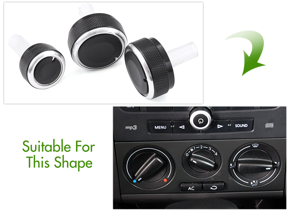 Image 5 - Air Conditioning heat control Switch knob AC Knob For Volkswagen VW GOLF 4 MK4 Golf IV Bora Passat B5 Lupo For Skoda Octavia MK1-in Car Stickers from Automobiles & Motorcycles