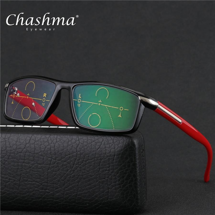 CHASHMA marca 2018 multifocal Progresiva gafas De lectura Oculos De Grau  Presbyopia Hyperopia Bifocal gafas mujeres 3cdb80a653