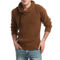 Sweater Pullover Men 2017 Male Brand Casual Slim Sweaters Men Solid Color Thick Hedging Turtleneck Men