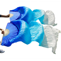 2017 Female High Quality Chinese Silk Veils Dance Fans Pair Of Belly Dancing Fans Cheap Hot