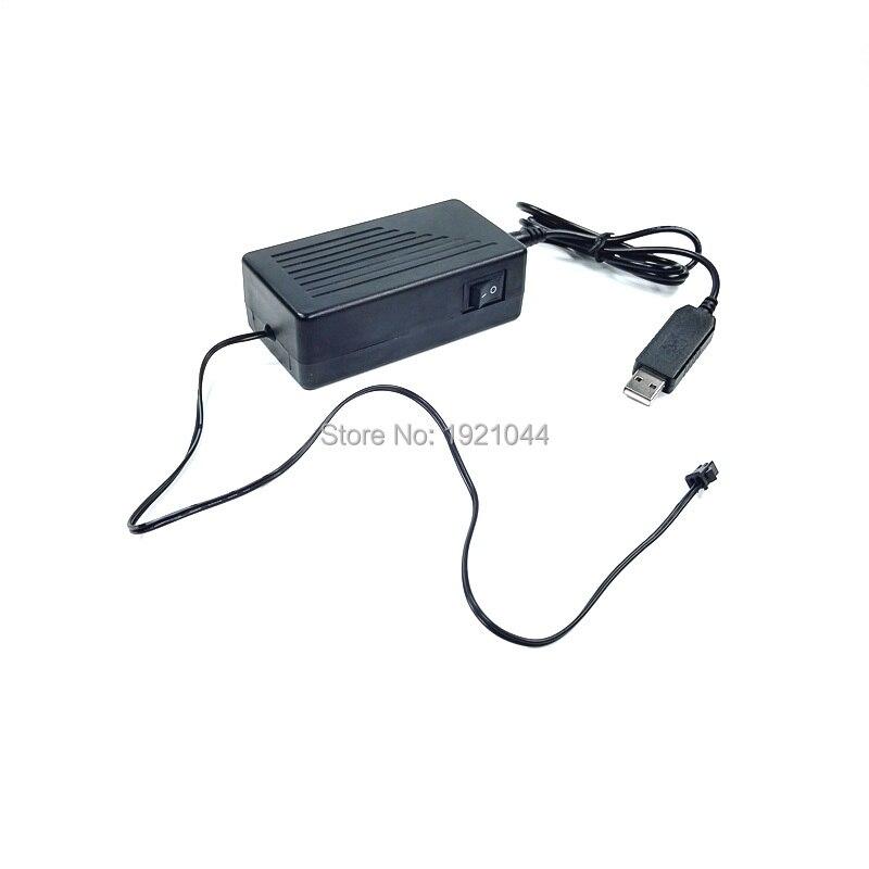 Дешево! 5 В 50 м USB Порты и разъёмы el wire драйвер/инвертор работает по мобильный аккумулятор для вождения 50 м el провод или EL Клейкие ленты для пар...