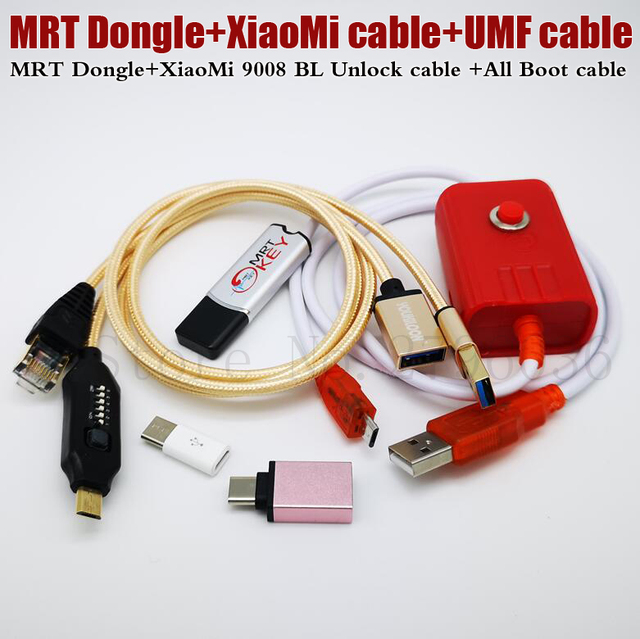 2020 Newest MRT KEY 2 Dongle + for Xiao Mi EDL cable +UMF ALL Boot cable set (EASY SWITCHING) & Micro USB To Type-C Adapt