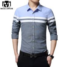 New Brand Dress Shirts Casual Men Shirt Slim Fit Chemise Homme Long Sleeve Social Shirt