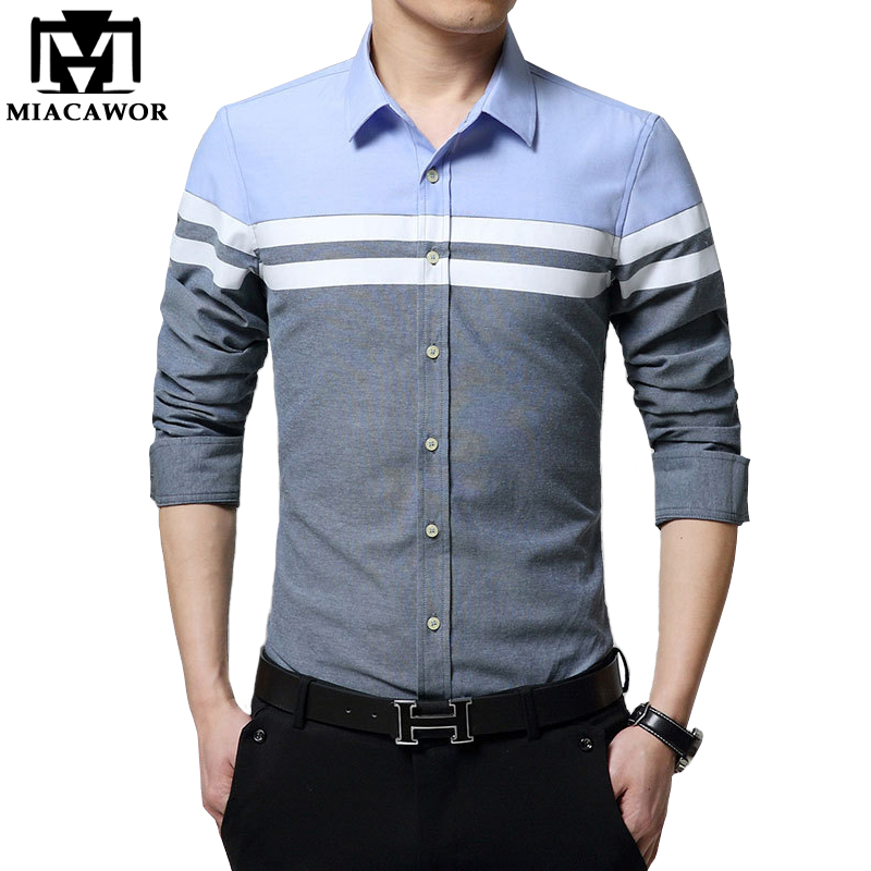 New Dress Shirts Casual Men Shirt Slim Fit Chemise Homme Long-Sleeve Social Shirt Camisa Masculina Mens Clothing Mc269