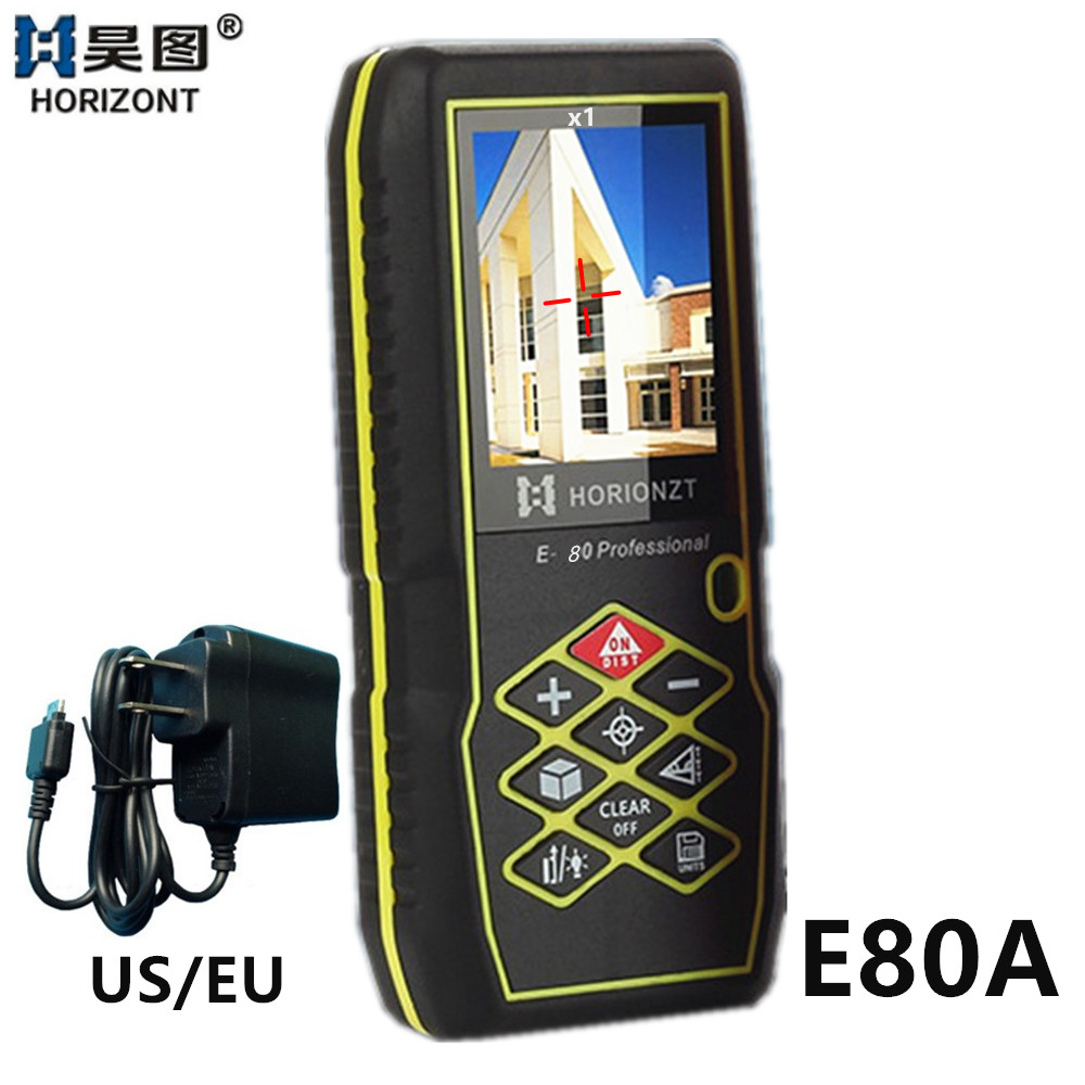 Angle Rangefinder 80m Digital Distance Meter with Screen Outdoor Laser Distance Meters Bubble Level Laser Measuring Tape Tool
