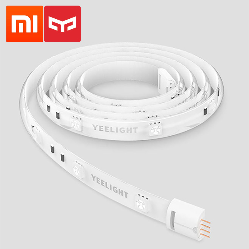 Xiaomi Yeelight Smart Light Strip 1m Extendable LED RGB Color Strip Lights Work With Alexa Google Assistant Mi Home Automation