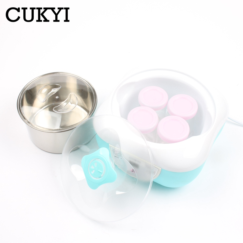 CUKYI Yogurt maker natto rice wine machine stainless steel liner Microcomputer leben/natto/rice wine making kitchen appliance 1L purple yogurt makers rice wine natto machine household fully automatic yogurt glass sub cup liner multifunctional kitchen helper