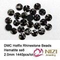 1440 pcs ss6 hematita DMC Frete grátis hot fix strass planas highquality-7