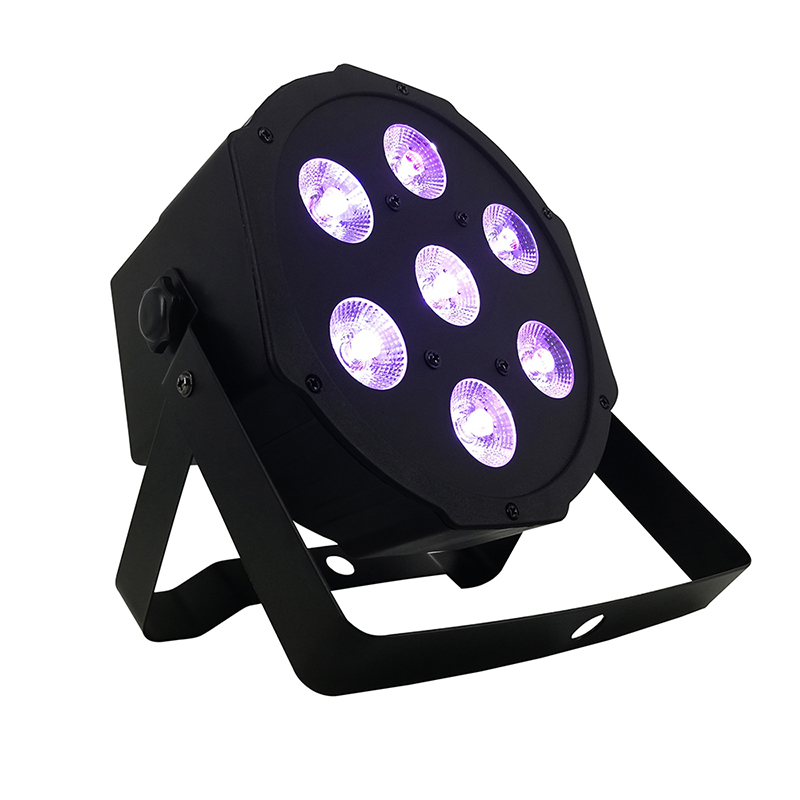 DMX Control LED Par 7x18W RGBWA UV 6IN1 Luxury DMX 9 Channels LED Flat Par Light 7X12W Led Flat Par Party DJ Disco Light