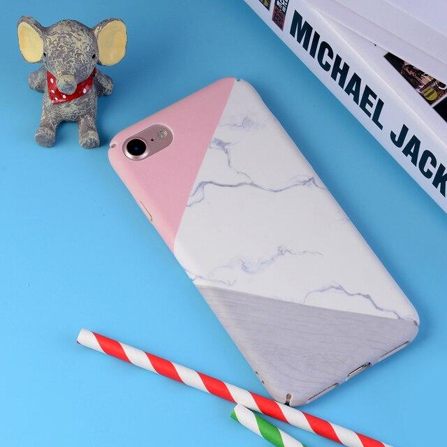 L'olaf Chaude Marbre pierre Téléphone Cas Pour iPhone 7 6 6 S Plus Géométrique Triangle ondulation de L'eau Couverture Pour iPhone 7 6 S 6 la saleté-résistant