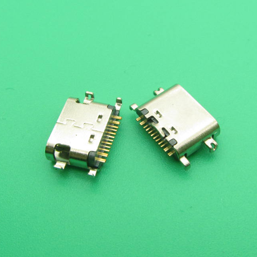 2pcs For Umidigi S2 Micro Mini Usb Jack 16-pin Type-C Connector Socket Charging Replacement Repair Parts Connector USB 16pin