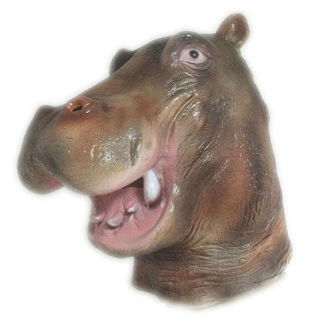 halloween horror hot animal hippo latex mask full face