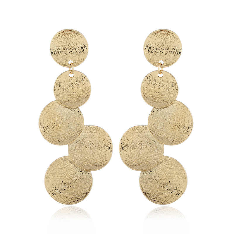 LZHLQ Brand Vintage Earrings For Women Boho Fashion Bohemian Drop Earrings Big Statement Ethnic Dangle Earrings Cute Jewelry
