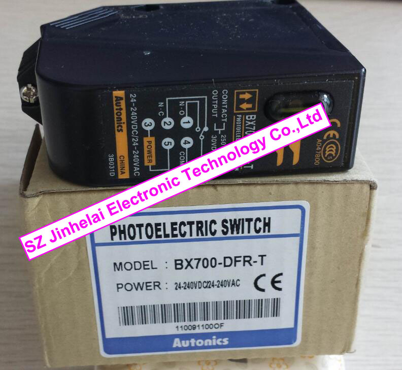 AUTONICS BX700-DFR-T New and original Built-in amplifier photoelectric sensors Photoelectric switch 24-240VAC/24-240VDC vision ultra small ultra thin reflective type photoelectric switch ex 14a uex14a amplifier built in