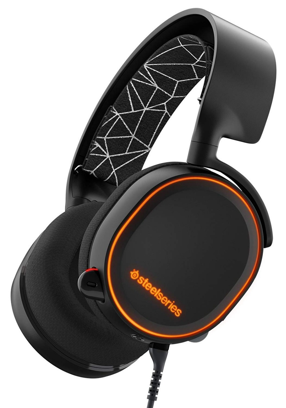 SteelSeries Arctis 5 Fone De Ouvido Gaming Headset com DTS: X 7.1 Surround para PC, PlayStation 4, VR, android e iOS freeshipping