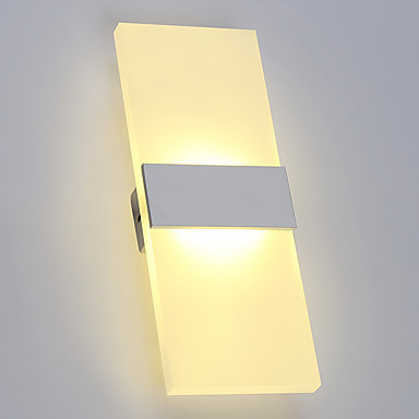 Acryl Simple Modern LED Wall Lamp Home Lighting Bathroom Mirror Light  Beside Lamp Wall Sconce Lamparas Apliques Pared 6w acryl square modern led wall lamp home indoor lighting wall sconce arandela lamparas de pared