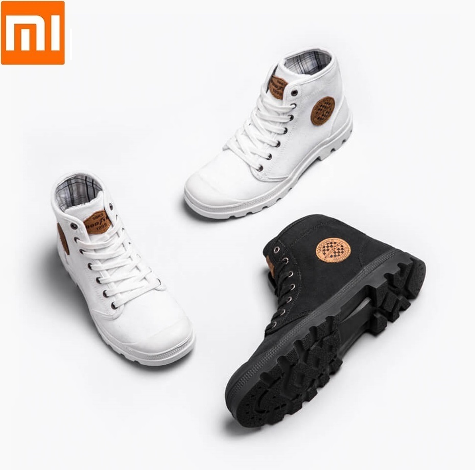 Xiaomi GOODYEAR canvas shoes Wear resistant Work boots Fine lines man woman High top canvas shoes