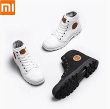 شاومي جوديير حذاء قماش ارتداء مقاومة حذاء برقبة للعمل خطوط غرامة رجل امرأة عالية أعلى حذاء قماش التحرير الأحذية في الهواء الطلق