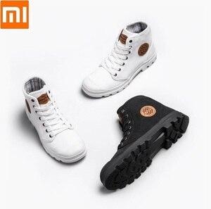 Image 1 - شاومي جوديير حذاء قماش ارتداء مقاومة حذاء برقبة للعمل خطوط غرامة رجل امرأة عالية أعلى حذاء قماش التحرير الأحذية في الهواء الطلق