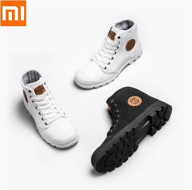 Xiaomi GOODYEAR canvas shoes Wear resistant Work boots Fine lines man woman High top canvas shoes Liberation shoes outdoor shoes