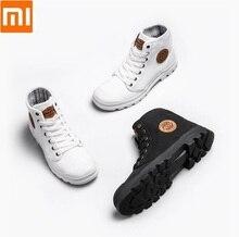 Xiaomi goodyear 캔버스 신발 내마 모성 작업 부츠 파인 라인 남자 여자 하이 탑 캔버스 신발 해방 신발 야외 신발
