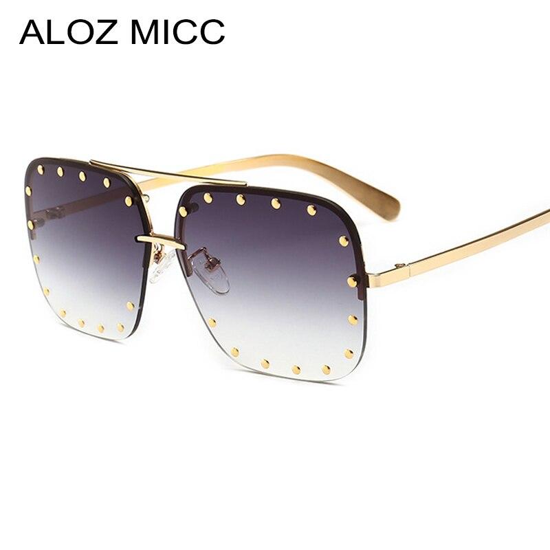ALOZ MICC Fashion Women Rimless Square Sunglasses 2019