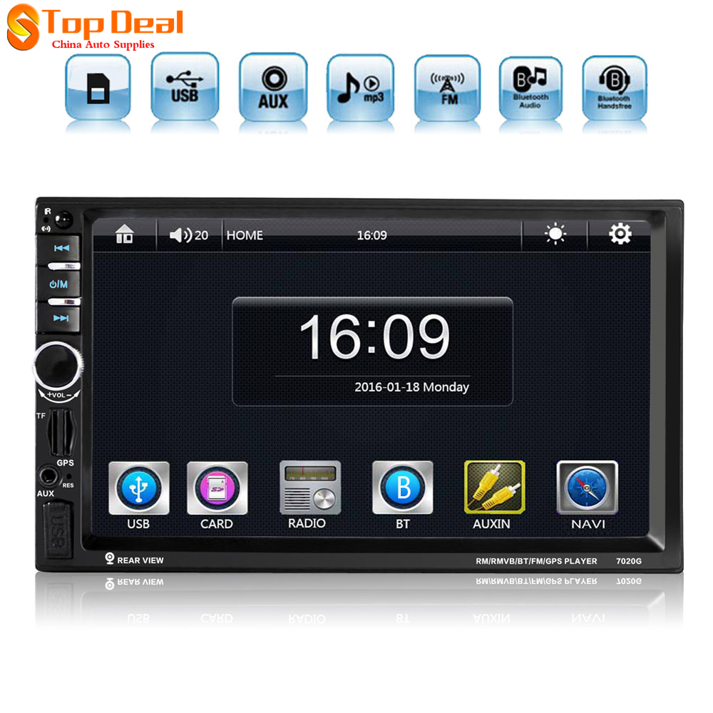 "7"" Inch LCD HD Car Radio MP5 Player In-Dash Video Players Bluetooth 2 DIN Car Stereo Audio FM + Wireless Remote"