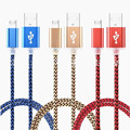 High Speed 2A Nylon Braided Micro USB Charger Cable Cord for Samsung Galaxy S4 S6 S7 Edge For Motorola For Nokia For Huawei