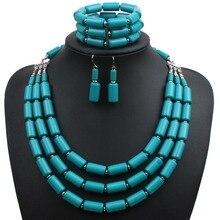 Strand joyería conjunto moda collar de cuentas de acrílico pulsera mujeres del pendiente de declaración collar de áfrica sistemas de la joyería y más 6630 Unidades