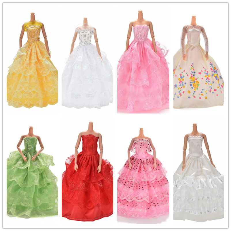 11.11Sale Handmade Multi Layers Doll Princess Dresses Party Wedding Dress For  Gown Dollhouse Costume Clothing