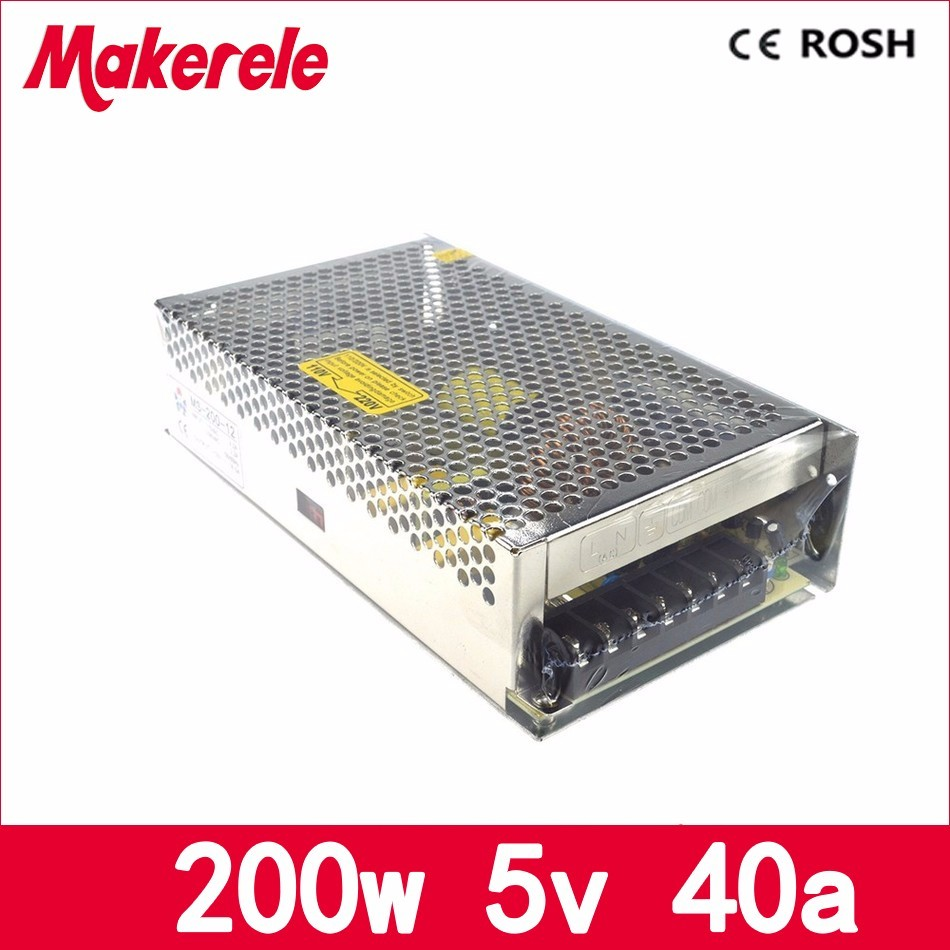 MS-200-5 CE approved 110V 220V ac to 5V dc mini size single output dc5V 40A 200w switching power supply smps with metal case ce rohs ms 50 24v ac dc mini size single output switching power supply from chines supplier