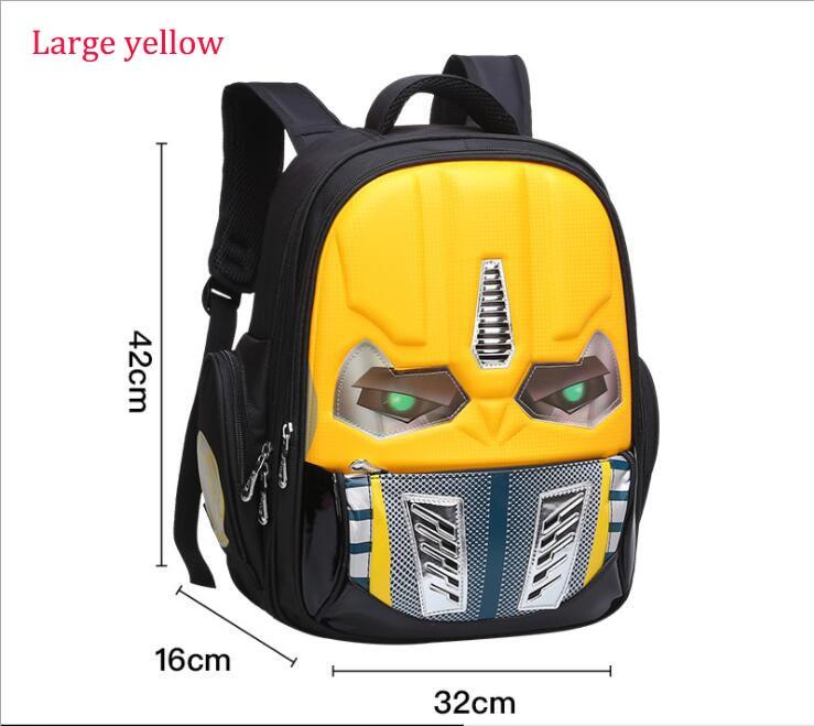 012b1df3ca Dropwow Transformers School Bag Children 3D Robot Backpack Kids ...