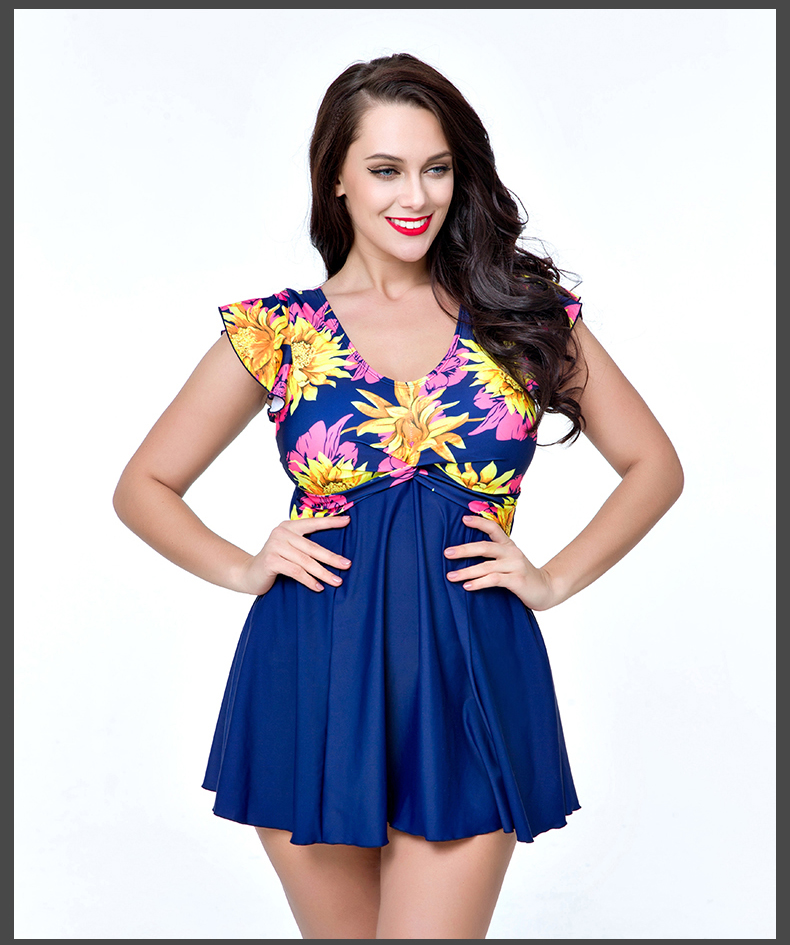 Discount Price of  Sexy Plus Size Skirt Swimwear Women One Piece Suits Swimsuit Beachwear Bathing Suit Swimwear Dress