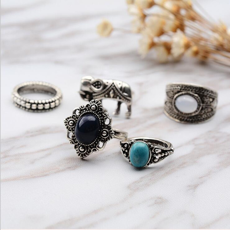 5style rings for women men fashion jewelry vintage silver Vintage style fashion rings