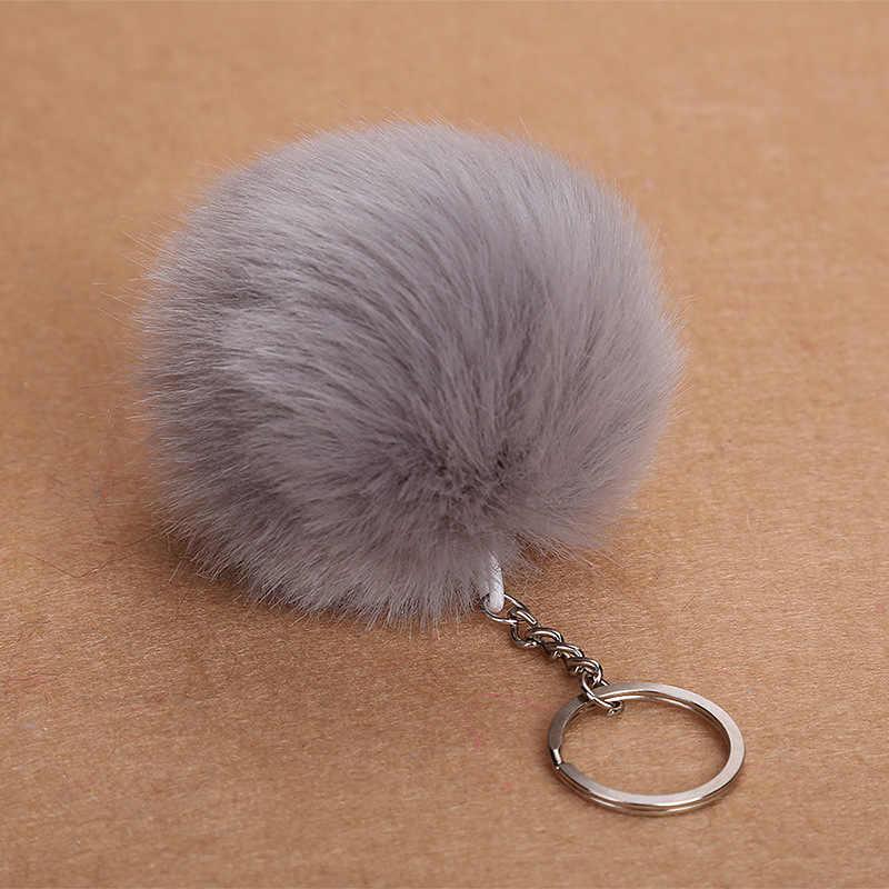 8 centímetros Faux Fur Bola Chaveiro Porte Pom Pom Pompom Fofo Lindo Chaveiro Chaveiro Bonito Para Mulheres Charme Saco brinquedos